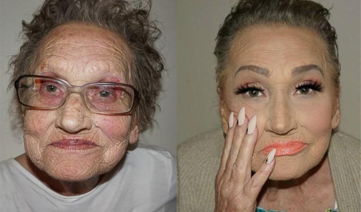 Glam Ma La Abuela Que Arrasa Por Su Milagroso Maquillaje Anastasia Beverly Hills Illuminators Rivera Famosa De Instagram Livia Antes Y Despus Sesin Contourning