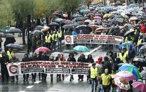 Manifestación de pensionistas en San Sebastián este sábado 16 de noviembre.