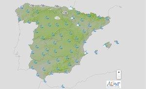 Surgirán intervalos de nubes de tipo medio y alto en Melilla y en Baleares.
