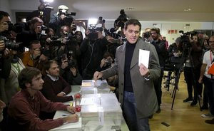 Albert Rivera vota en Madrid.