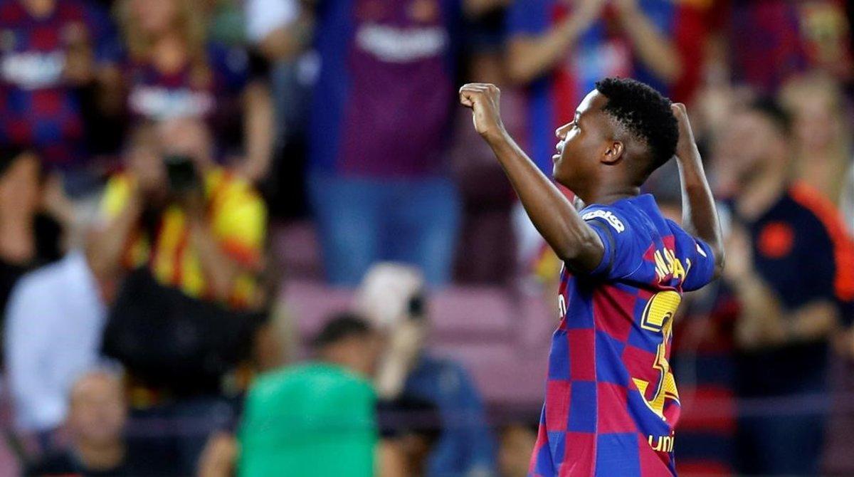 Ansu Fati está viviendo un cuento de hadas en el Barça.