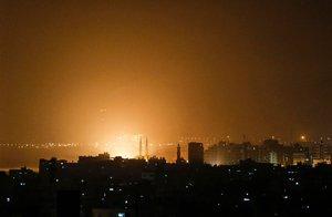 Ataques de laFuerza Aérea de Israelen contra de Gaza.