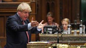 Boris Johnson, en el Parlamento británico.