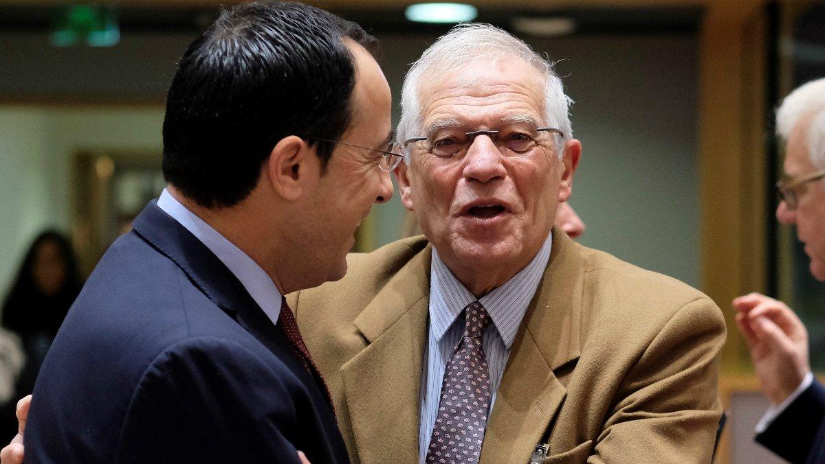 El ministro de Exteriores, Josep Borrell, en una cumbre en Bruselas.