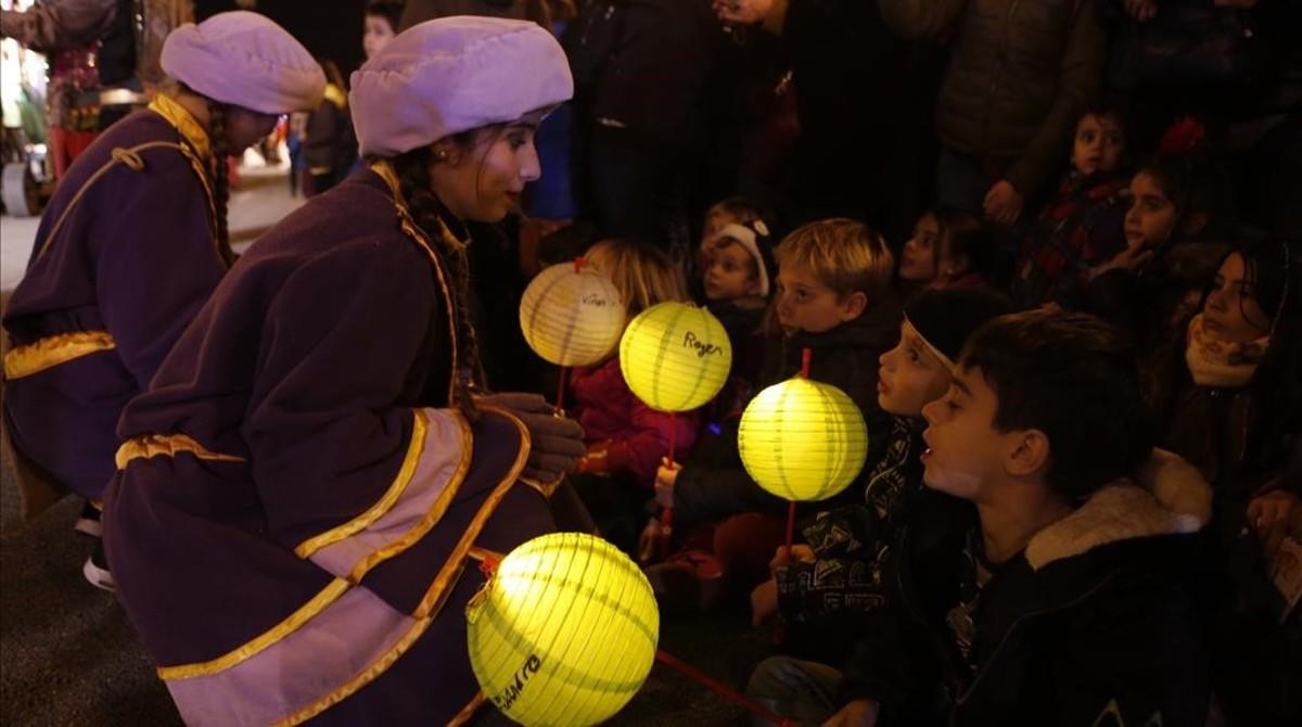 Cabalgata de Reyes Magos en Barcelona.