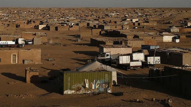 Campo de refugiados de saharauis en Tinduf, al sur de Argelia.