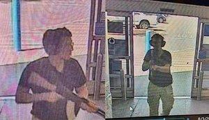 Captura de vídeo del asesino de El Paso entrando en el centro comercial.