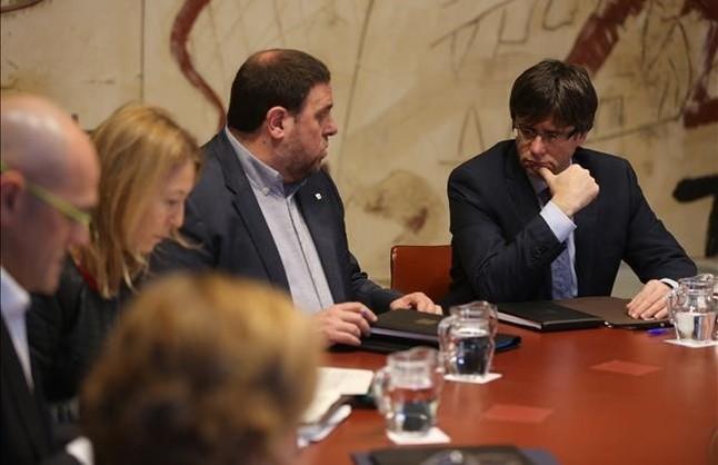 Reunión del Consell Executiu, este martes en el palau de la Generalitat.