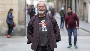 El director Terry Gilliam, en el Raval