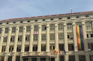 Exterior de la Empresa Municipal de la Vivivienda y Suelo, en Madrid.