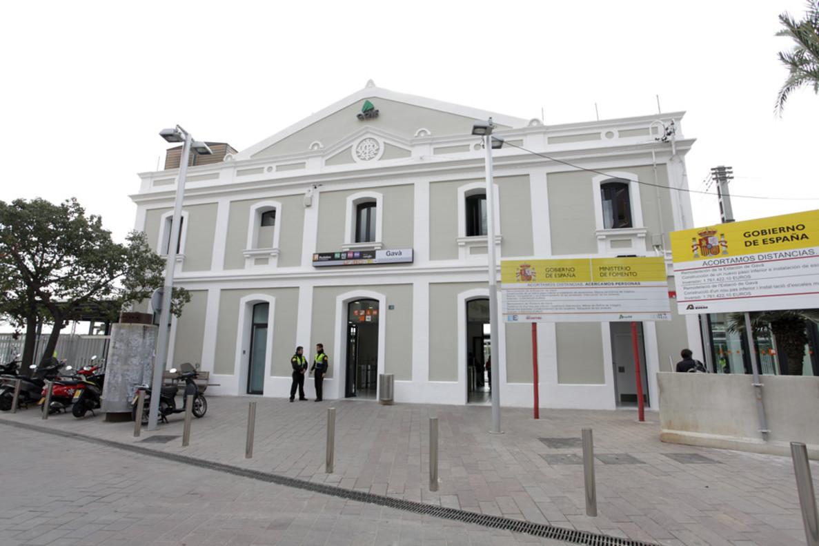 Estación de Renfe de Gavà.