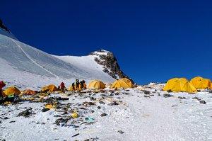 Imagen del campamento 4 del Everest, en mayo del 2018.