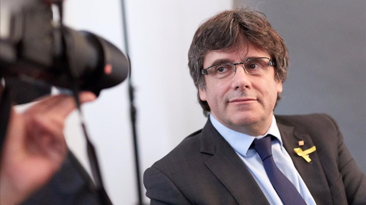 El expresidente de la Generalitat Carles Puigdemont, en Berlín, esta semana.