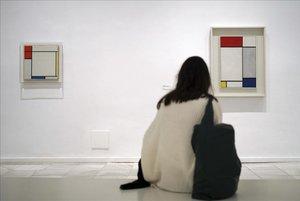 Presentaciónen el Museo Reina Sofía de la exposición Mondrian y De Stijl.