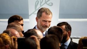 Felipe VI, en el acto celebrado este viernes en Barcelona.