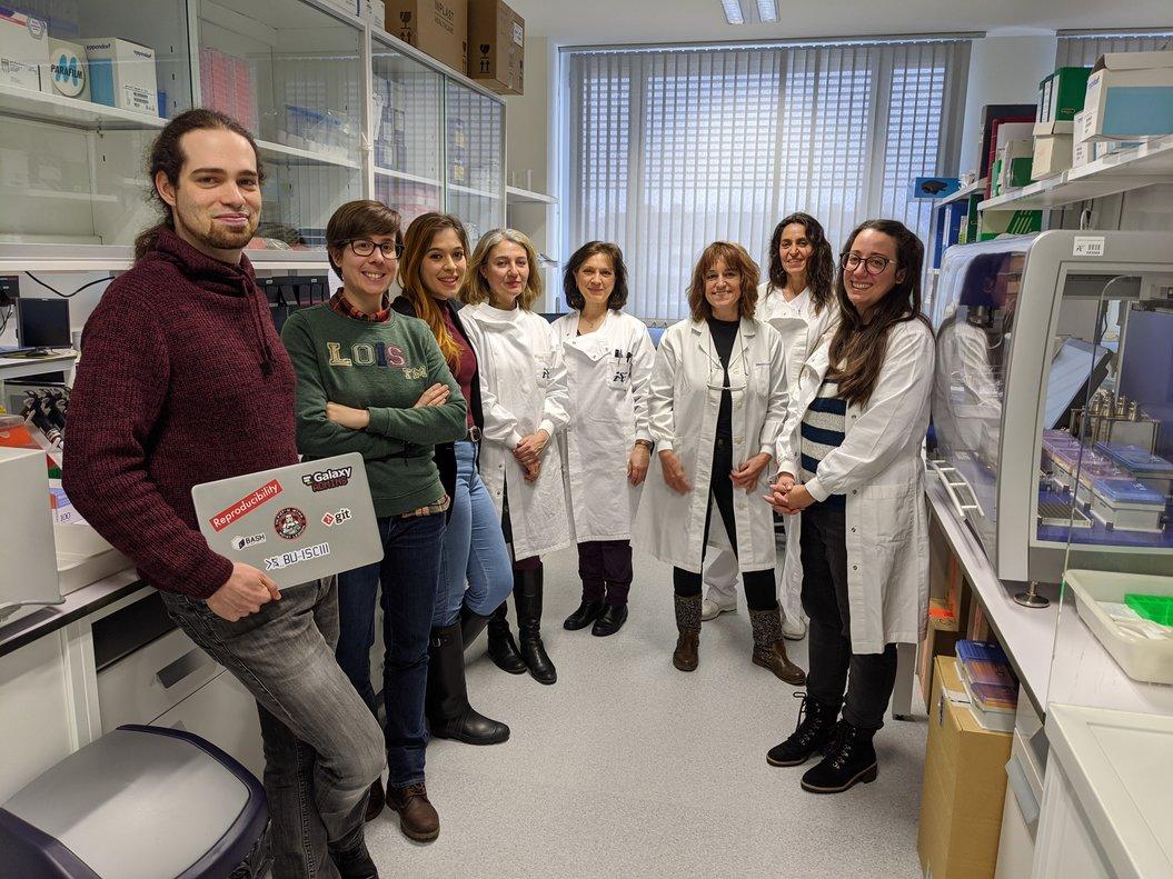 El equipo científico delInstituto de Salud Carlos III(ISCIII) de Madrid, coordinado por Inmaculada Casas, que ha secuenciado el genoma completo del COVID-19.