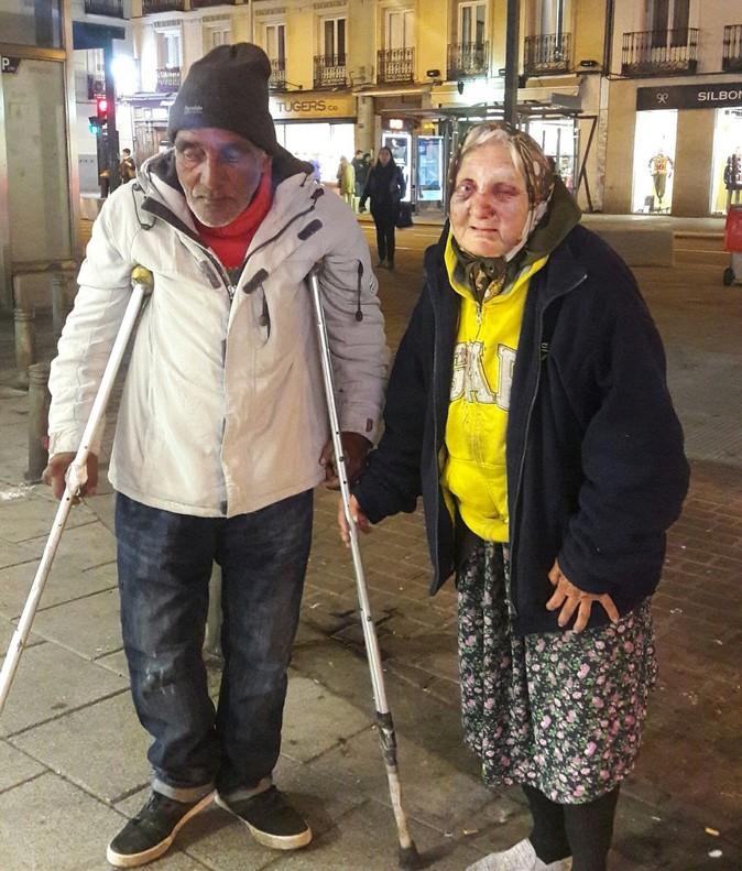 Golpeada brutalmente una sintecho de 84 años en Madrid