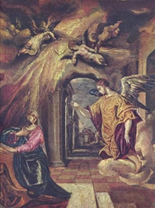 La anunciacion, del Greco, una de las obras del legado de Muñoz Ramonet.