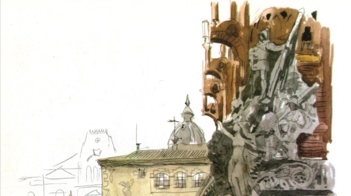 Ilustración incluida en el libro 'Barcelona Madrid'.