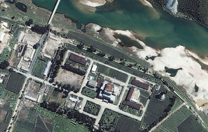 Imagen aérea de un complejo nuclear en Corea del Norte.