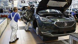 Producción del nuevo Seat Tarraco en la planta de Volkswagen en Wolfsburg.