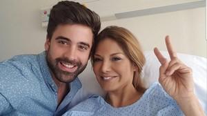 Ivonne Reyes y Sergio Ayala, en el hospital.