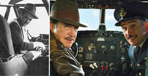 A la izquierda, el magnate Howard Hugues. Al lado, Warren Beatty y Steve Coogan en la película La excepción a la regla.