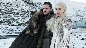 Jon Snow y Daenerys Targaryen, dos de los personajes protagonistas de Juego de tronos.