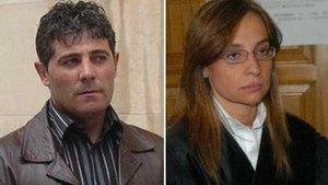 José Javier Salvador y Rebeca Santamalia.