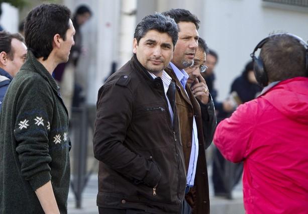 Juan José Cortes, a su llegada a la Audiencia de Huelva para asistir a la última sesión del juicio contra Santiago y Rosa del Valle, el pasado 25 de febrero.