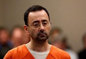 Larry Nassar, durante el juicio celebrado en Grand Rapids (Michigan), acusado de agredir sexualmente a 125 jóvenes gimnastas y pacientes.