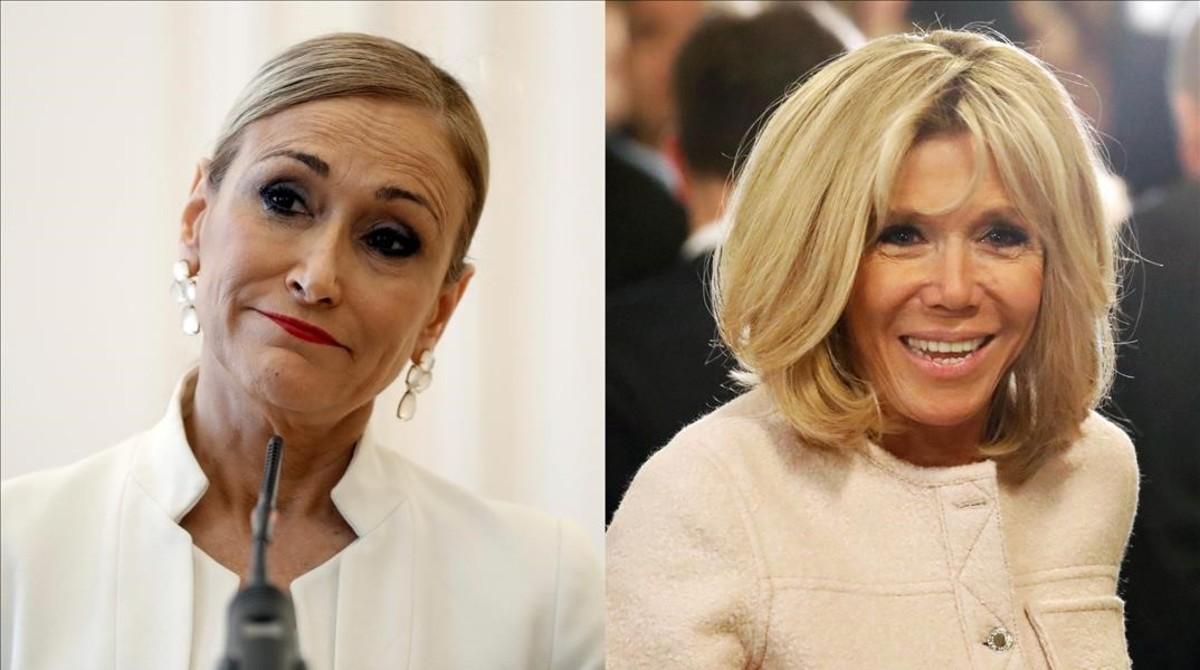 Cristina Cifuentes y Brigitte Macron.