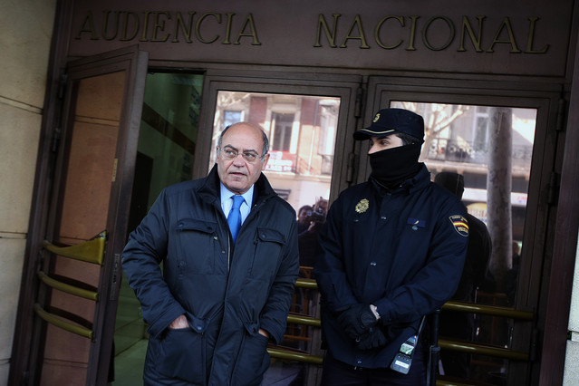 Lexpresident de la CEOE Gerardo Díaz Ferrán surt de declarar, el març del 2012, de lAudiència Nacional pel cas Marsans.