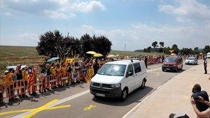 Llegada, el pasado 11 de julio, al centro penitenciario de Lledoners de los exconsellers Joaquim Forn, Jordi Turull y Josep Rull.