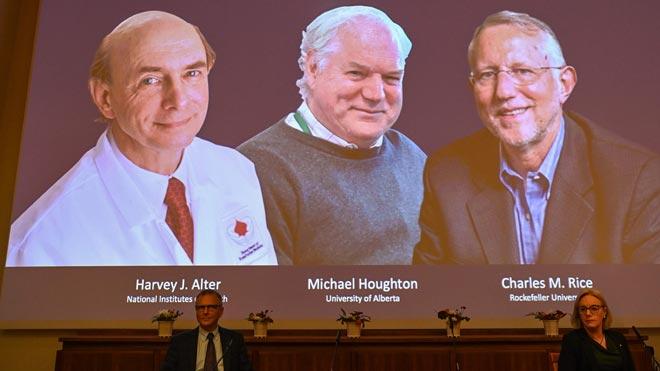 Los descubridores de la hepatitis C, premio Nobel de Medicina.