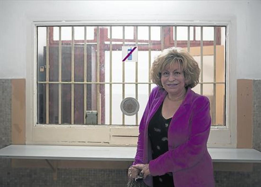 MAGDA ORANICH. En los locutorios de la Modelo donde se entrevistaba con los presos.