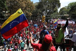 Manifestación de apoyo a Nicolás Maduro en Caracas