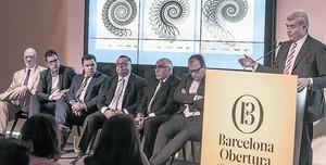 Marian Puig, president de Barcelona Global, presenta la iniciativa, ahir a Barcelona.