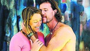 Mario César Deus Yela junto a su ex esposa Julia Engelhorn.