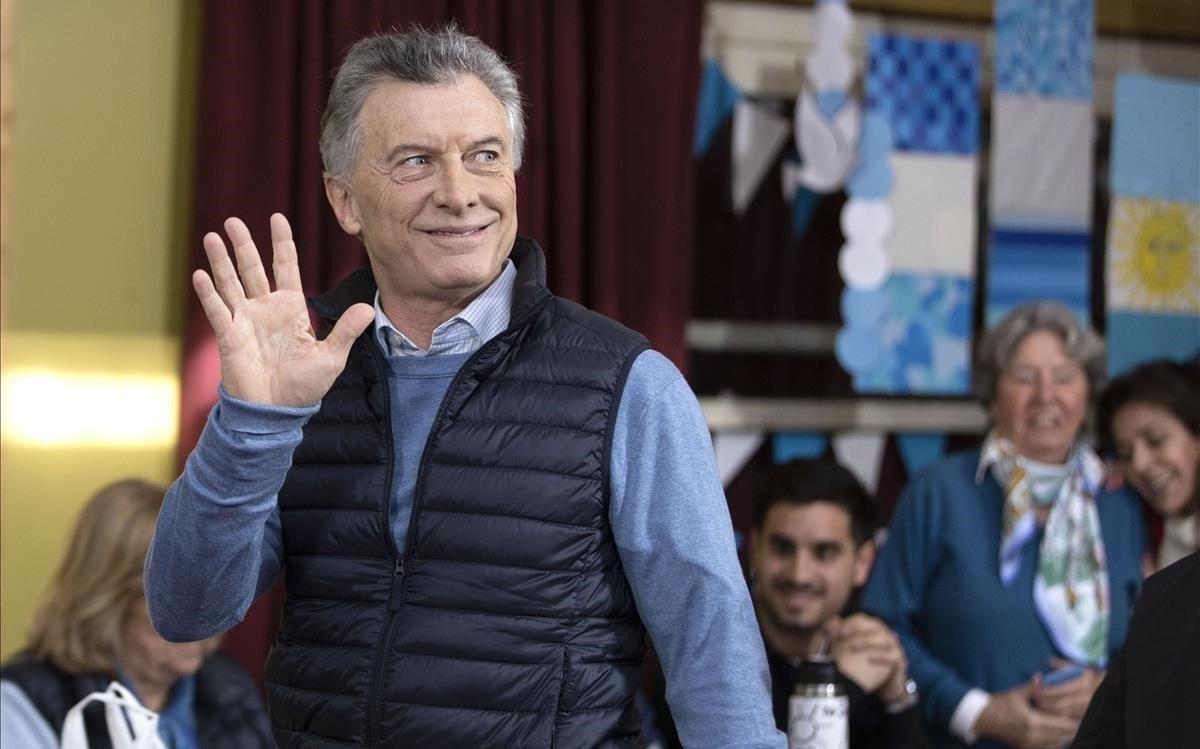 Mauricio Macri, después de votar en Buenos Aires.