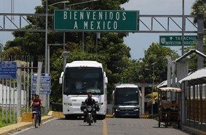 Una de los pasos hacia México en la frontera con Guatemala.