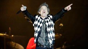 Mick Jagger, en el concierto de Chicago, tras su operación de corazón.
