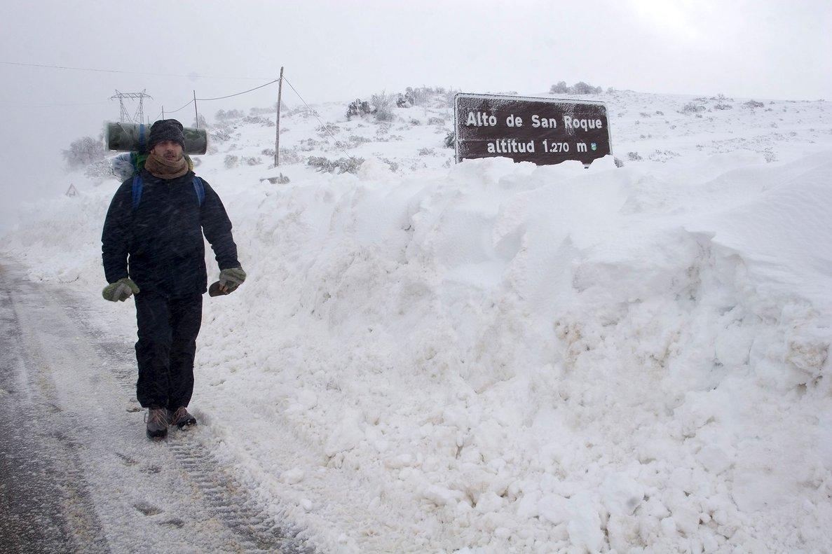 El Galicia la cota de nieve en torno a 1.300 metros bajando por la mañana a 1.000.
