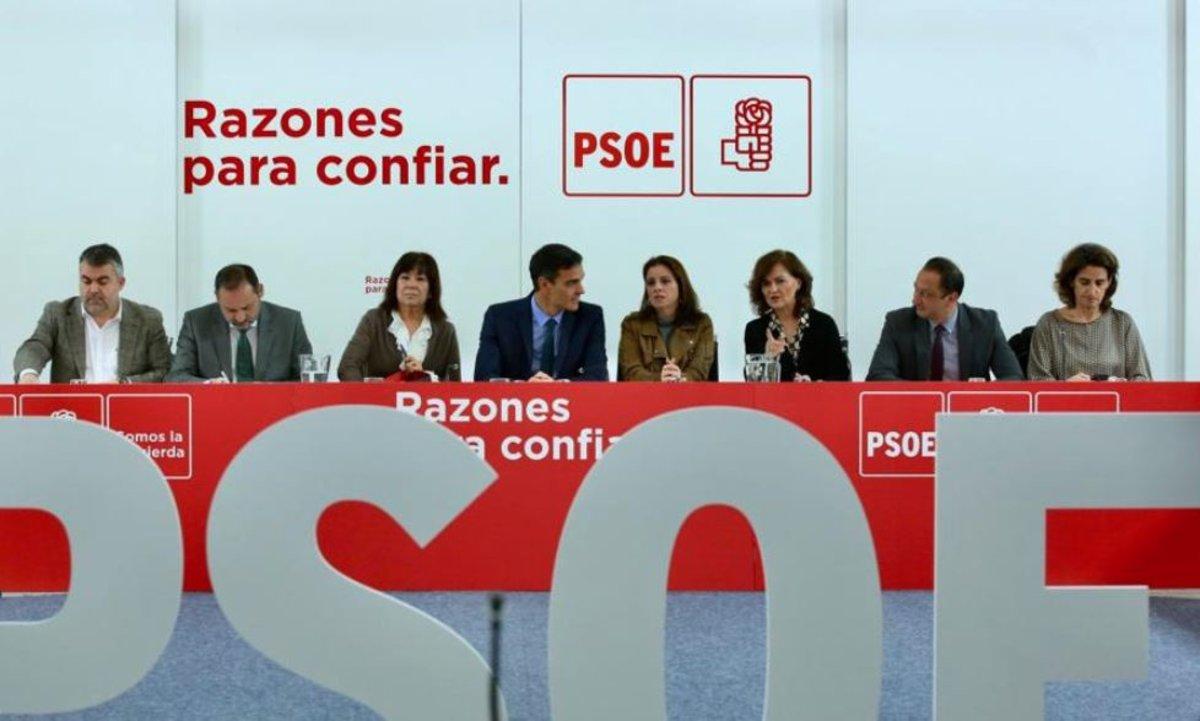 Pedro Sánchez, en la reunión.