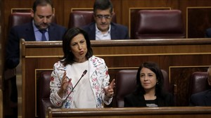 La portavoz parlamentaria de los socialistas, Margarita Robles, el pasado miércoles.