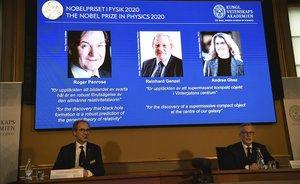 Penrose, Genzel y Ghezdel ganan el Nobel de Física 2020