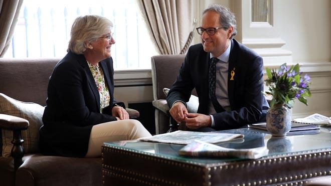 Quim Torra se reúne con Clara Ponsatí en Edimburgo.