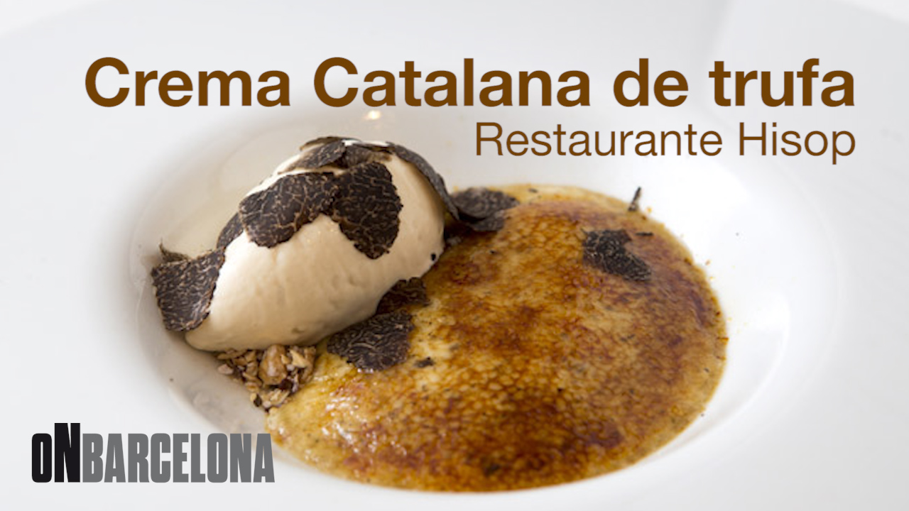 Receta de crema catalana de trufa de Oriol Ivern, del restaurante Hisop.