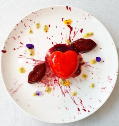 Uno de los platos del menú de San Valentín del restaurante Somni, del Hotel The One.