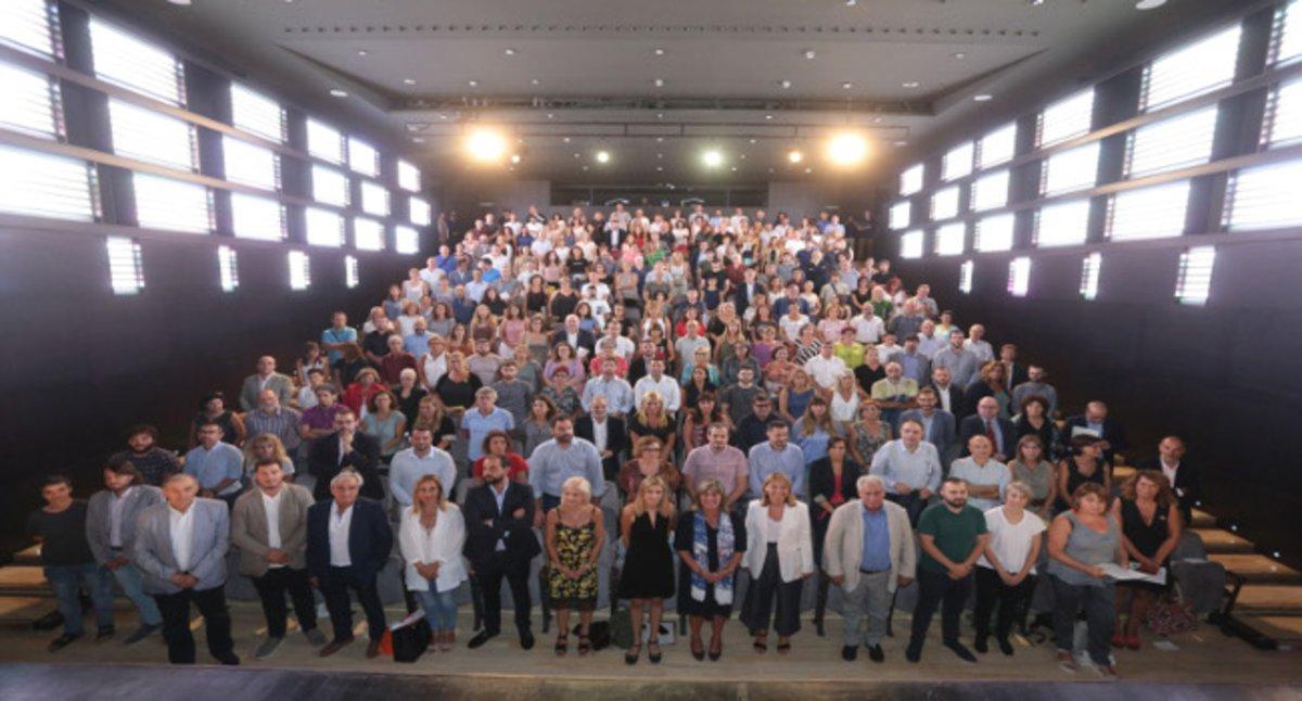 Reunión municipalista en la Diputación de Barcelona.